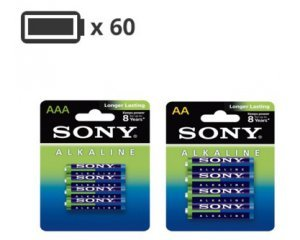 Darty: Pack de 60 Piles Sony : 32 AA - LR06 & 28 AAA - LR03 pour 20€ au lieu de 60€