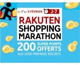 Rakuten-PriceMinister: Rakuten Shopping Marathon : 2€ offerts aux 2000 premiers inscrits