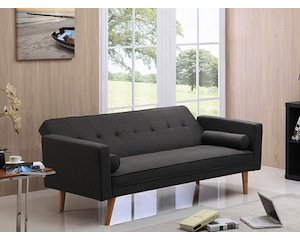 canap clic clac 3 places gris fonc 199 au lieu de 499 auchan. Black Bedroom Furniture Sets. Home Design Ideas