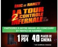 Gamecash: Des places de ciné pour La Tour 2 Contrôle Infernale et une ps4 à gagner