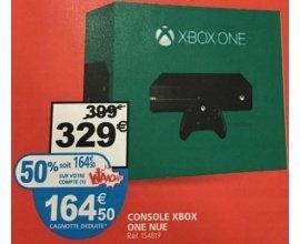 Auchan: Console XBOX ONE à - 50% (164.50€ crédités sur votre compte Waaoh)