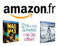 Amazon: 2 Blu-ray achetés = le 3e offert parmi plus de 2500 titres différents