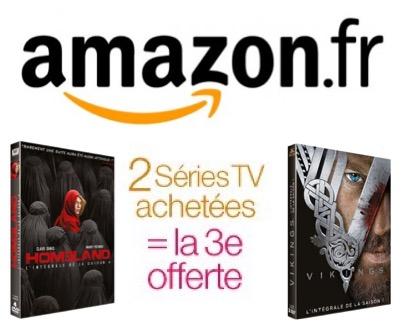 Code promo Amazon : 2 Séries TV en DVD ou Blu-Ray achetées = la 3e offerte