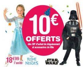 ToysRUs: 10€ offerts dès 30€ d'achat de déguisement et accessoires de fêtes