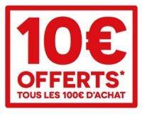 Darty: 10€ offerts en carte cadeau tous les 100€ d'achat sur une sélection de rayons
