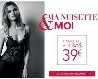 Etam: Offre Saint Valentin : 1 nuisette + 1 bas pour 39€