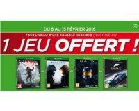 Micromania: 1 jeu offert pour l'achat d'une console Xbox One