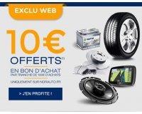 Norauto: 10€ offerts par tranche de 100€ d'achat