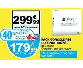 Auchan: Console PS4 reconditionnée à 179,99€ (dont 120€ sur votre carte Waaoh!)