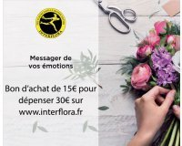 Showroomprive: Achetez 15€ le bon d'achat permettant de dépenser 30€ sur Interflora.fr