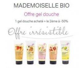 Mademoiselle Bio: 1 gel douche acheté, le 2e à -50%