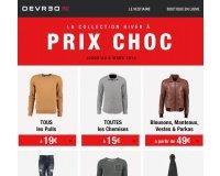 Devred 1902: Toute la collection Hiver à prix choc - toutes les chemises à 15€, pulls à 19€..