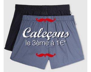 Celio*: Caleçons et boxers : 2 achetés, le 3e à 1€