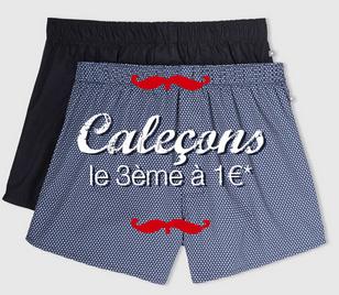Code promo Celio* : Caleçons et boxers : 2 achetés, le 3e à 1€