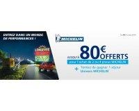 Norauto: Recevez jusqu'à 80€ offerts pour l'achat de 2 ou 4 pneus Michelin
