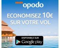 Opodo: Economisez 10€ sur votre billet d'avion en réservant via l'application mobile