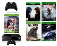 Cdiscount: Xbox One 1 To + FIFA 16 + Halo 5 + COD AW + Forza 6 + 2e Manette à 349,99€