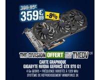 GrosBill: -8% sur la carte graphique NVIDIA GeForce GTX 970 & le jeu The Division offert