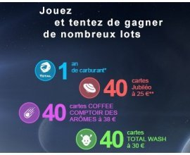 Total: 1 an de carburant, 40 cartes lavage TOTALWASH [...] à gagner