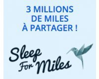 Air France: Sleep For Miles : 3 millions de miles à gagner
