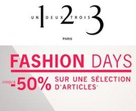 1.2.3: [Fashion Days] Jusqu'à -50% sur une sélection d'articles + -10% suppl.