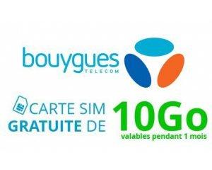 Bouygues Telecom: 1 carte SIM et 10 Go de données offerts pour tester l'efficacité du réseau 4G