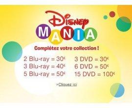 Amazon: Disney Mania : nombreuses promotions sur les DVD et Blu-Ray Disney
