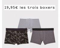 Undiz: 3 boxers Homme au choix pour 19,95€ au lieu de 29,85€