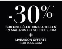 IKKS: 30% de réduction sur la boutique en ligne et la livraison offerte