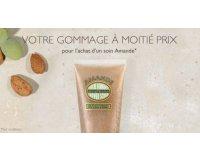 L'Occitane: Un gommage à moitié prix pour l'achat d'un soin Amande @L'Occitane