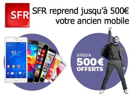 Code promo SFR : Jusqu'à 500€ de remise pour la reprise de votre ancien mobile