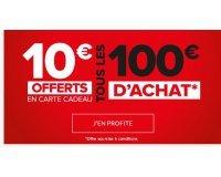 Fly: 10€ offerts en carte cadeau par tranche de 100€ d'achat