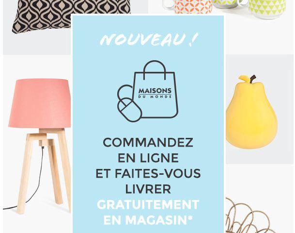 Code promo Maisons du Monde : Livraison gratuite en magasin