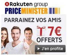 Rakuten-PriceMinister: Parrainage : 7€ offerts + 1% du montant des achats de vos filleuls
