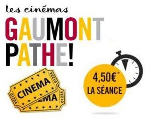 Gaumont Pathé: 4,5€ la place de cinéma le mardi sur une sélection de films quittant l'affiche