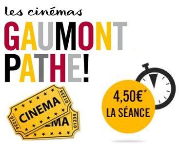 Code promo Gaumont Pathé : 4,5€ la place de cinéma le mardi sur une sélection de films quittant l'affiche