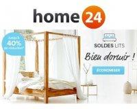 Home24: Bien dormir : 40 % de réduction sur une sélection de lits
