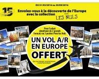 Pour les Nuls: 1 Vol A/R en Europe offert pour l'achat de 2 grand formats ou 3 formats poche