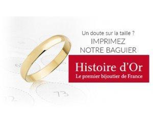 Histoire d'Or: 1 baguier gratuit pour mesurer votre tour de doigt