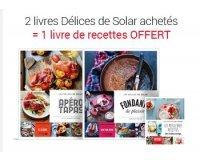 Fnac: 2 livres Délices de Solar achetés = 1 livre de recettes offert