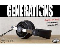 Cobra: -15% sur l'ensemble des casques audio professionnels Final