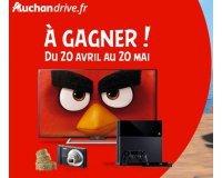 Auchan Drive: 5 TV Sony de 102 cm, 5 appareils photo, 5 PS4 et 600 places de cinéma à gagner