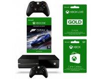 Cdiscount: Xbox One 500Go + 2e manette + Forza 6 + 3 mois de Live + 10€ sur le store à 299€