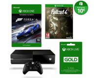 Cdiscount: Xbox One 500Go + Forza 6 + Fallout 4 + Live 3 mois + 10€ sur Xbox Store à 299€