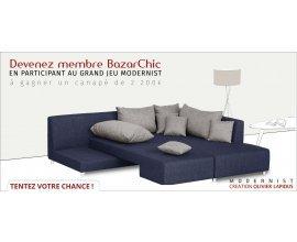 Bazarchic: 1 canapé d'angle Modernist (valeur 2200 euros) à gagner