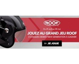 Motoblouz: Grand jeu Roof : 3 casques Desmo New Gen,  6 polos et 5 anneaux Roof à gagner