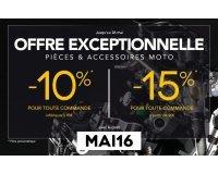 Motoblouz: Économisez jusqu'à 15% sur vos commandes de pièces et accessoires pour moto