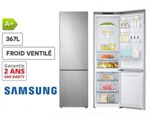 refrigerateur samsung rb37j5000sa silver 367l froid ventil 599 darty. Black Bedroom Furniture Sets. Home Design Ideas