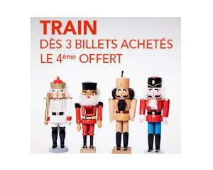 OUI.sncf: Pack Tribu : 3 billets de train achetés = le 4ème offert