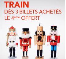 Code promo Voyages SNCF : Pack Tribu : 3 billets de train achetés = le 4ème offert